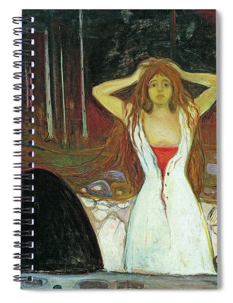 Ashes, 1895 , By Munch Spiral Notebook
