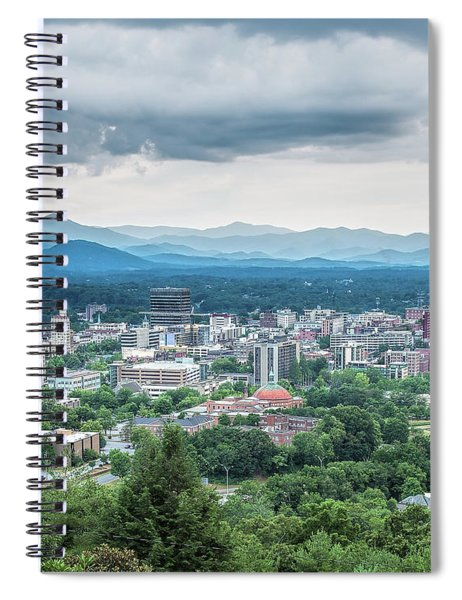 Asheville Afternoon Cropped Spiral Notebook