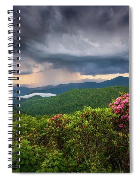 Asheville North Carolina Blue Ridge Parkway Thunderstorm Scenic Mountains Landscape Photography Spiral Notebook