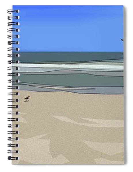 Spiral Notebook featuring the digital art Ashore by Gina Harrison
