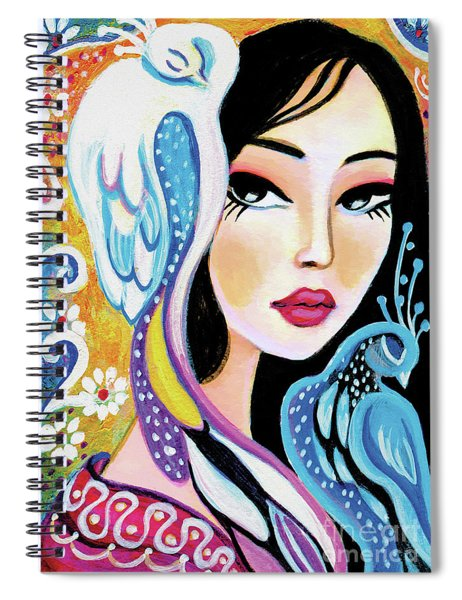 Asian Bird Spiral Notebook