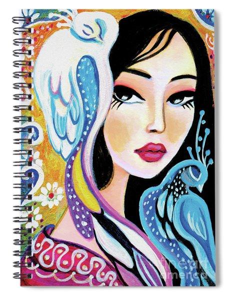 Asian Bird Spiral Notebook