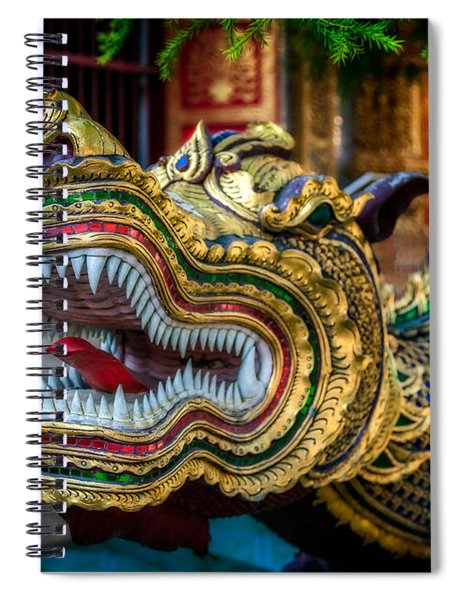 Asian Temple Dragon Spiral Notebook