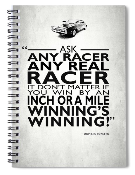 Ask Any Racer Spiral Notebook