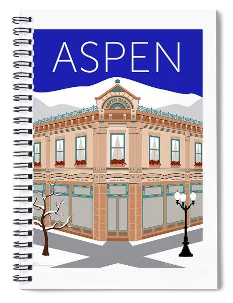 Aspen Blue Spiral Notebook