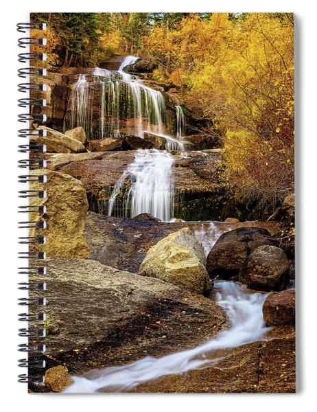 Aspen-lined Waterfalls Spiral Notebook