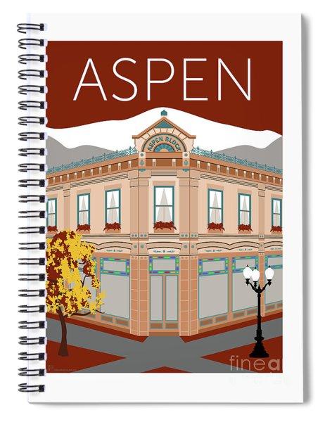 Aspen Maroon Spiral Notebook