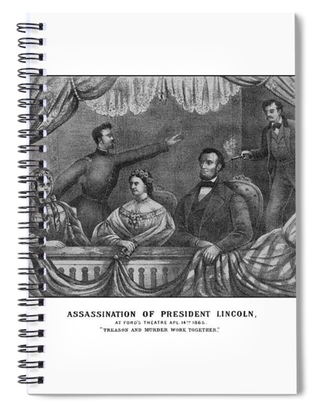 Assassination Of President Lincoln Spiral Notebook