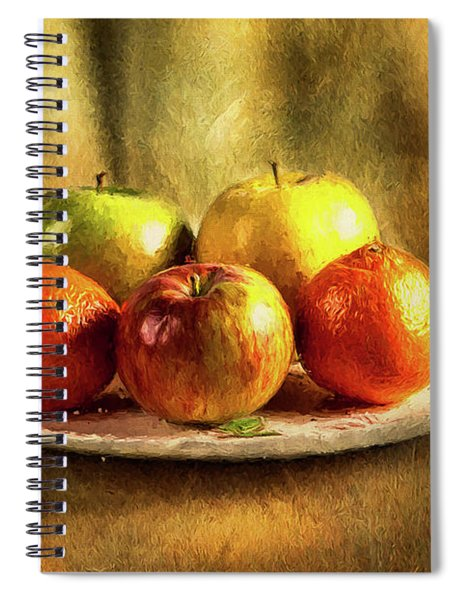 Assorted Fruits In A Plate Spiral Notebook