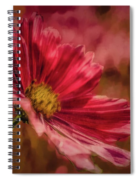 Aster Red Painterly #h1 Spiral Notebook