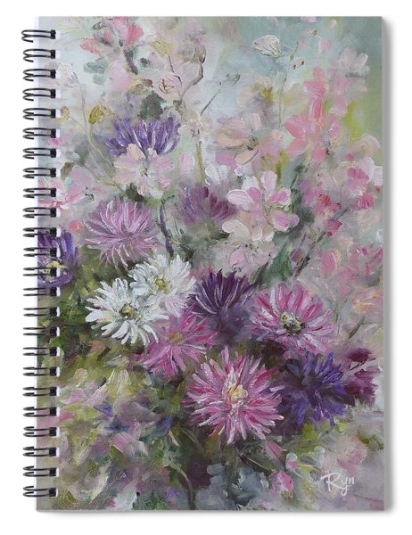 Asters And Stocks Spiral Notebook