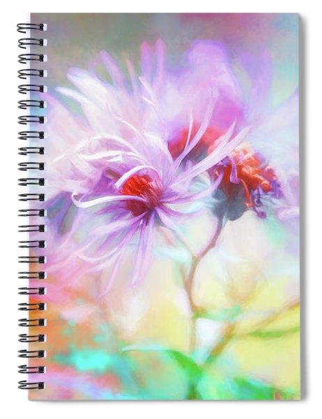 Asters Gone Wild Spiral Notebook