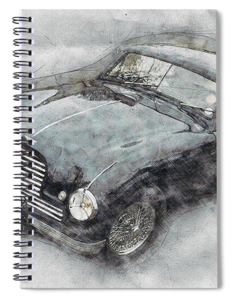 Aston Martin Db2 Gt Zagato 2 - 1950 - Automotive Art - Car Posters Spiral Notebook