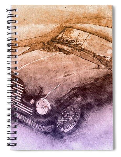 Aston Martin Db2 Gt Zagato 3 - 1950 - Automotive Art - Car Posters Spiral Notebook