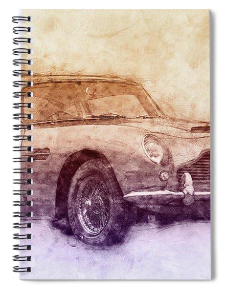 Aston Martin Db5 2 - Luxury Grand Tourer - Automotive Art - Car Posters Spiral Notebook