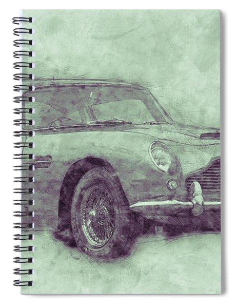 Aston Martin Db5 3 - Luxury Grand Tourer - Automotive Art - Car Posters Spiral Notebook