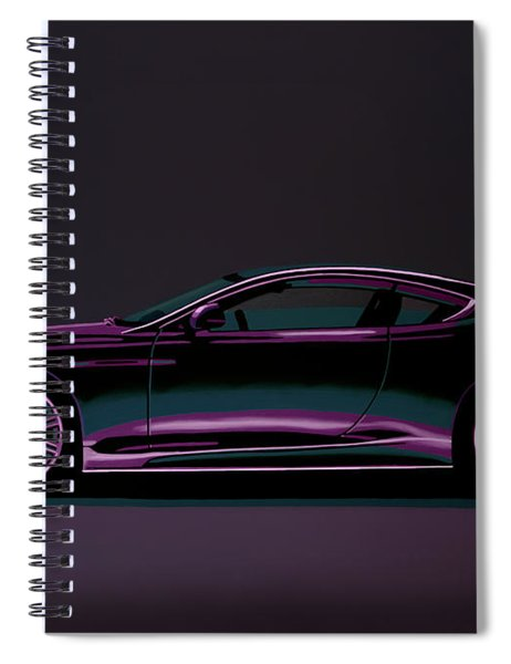 Aston Martin Dbs V12 2007 Painting Spiral Notebook