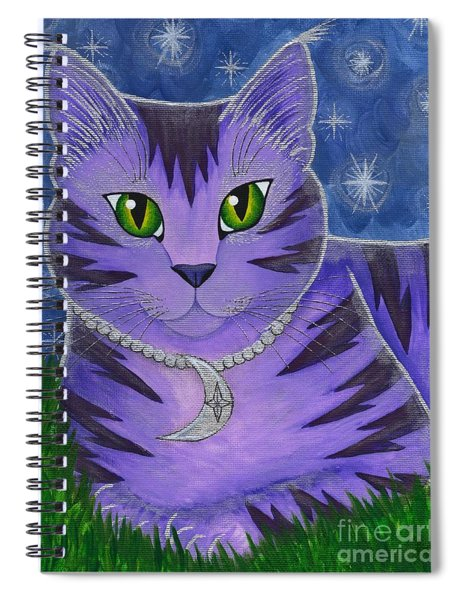 Astra Celestial Moon Cat Spiral Notebook