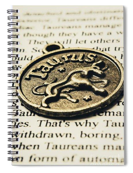 Astrological Definition In Taurus Spiral Notebook