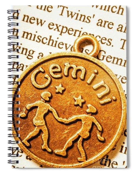 Astrological Gemini Spiral Notebook