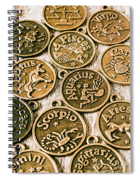 Astrology Charms Spiral Notebook