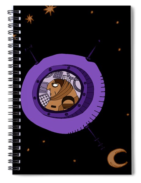 Astronaut In Deep Space Spiral Notebook
