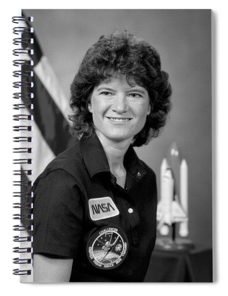 Astronaut Sally Ride  Spiral Notebook