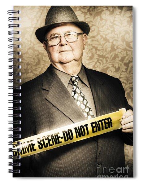 Astute Fifties Crime Scene Investigator Spiral Notebook
