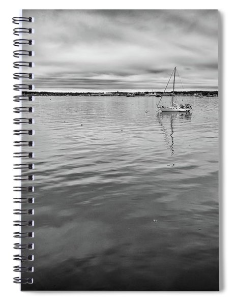 At Anchor In The Harbor Spiral Notebook