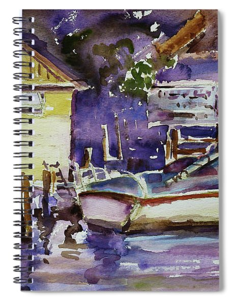 At Boat House 3 Spiral Notebook