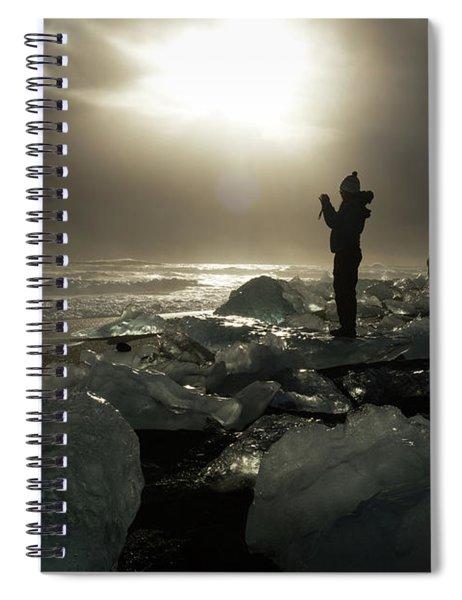 The Diamond Beach, Jokulsarlon, Iceland Spiral Notebook