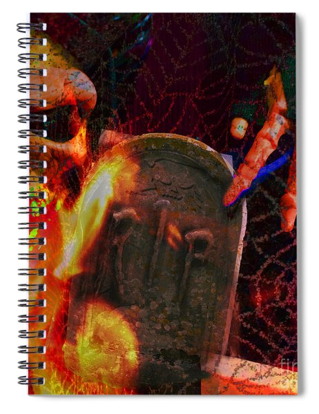 At Night In The Graveyard Spiral Notebook