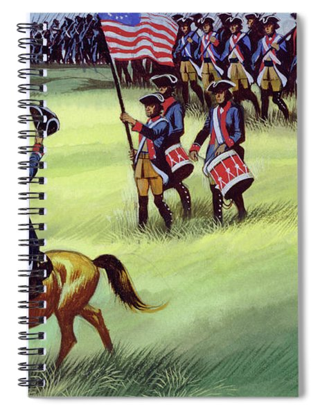 At Saratoga The Colonists Won Victory Spiral Notebook