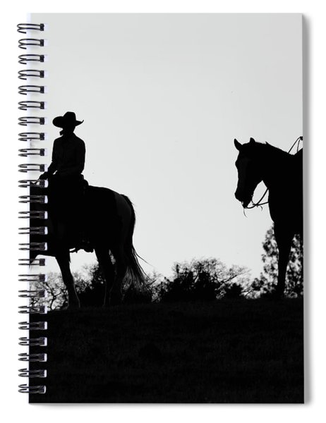 At Sunset On The Ranch Spiral Notebook