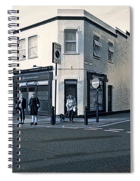 At The Corner Spiral Notebook