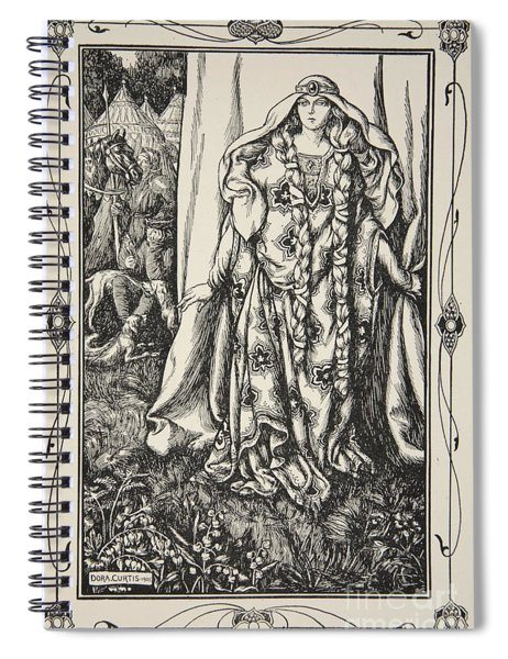 At The Door Of One Stood A Lady Spiral Notebook