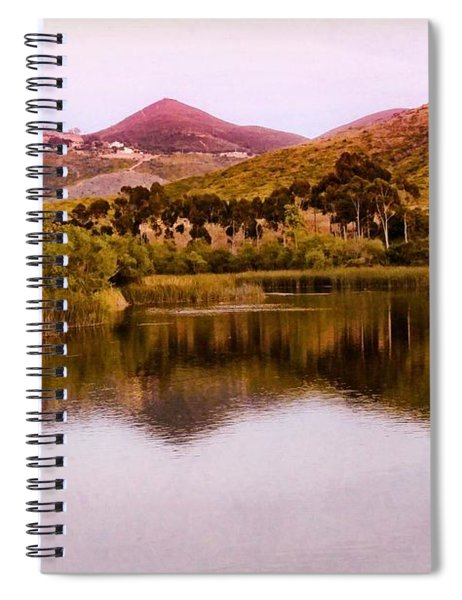 Spiral Notebook featuring the photograph At The Lake by Alison Frank