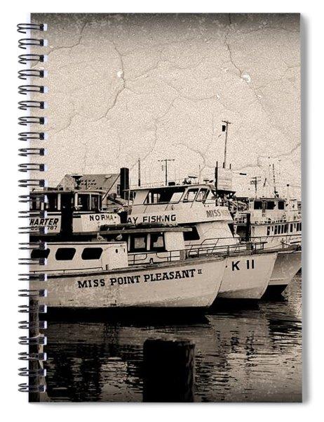 At The Marina - Jersey Shore Spiral Notebook