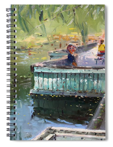 At The Park By The Water Spiral Notebook
