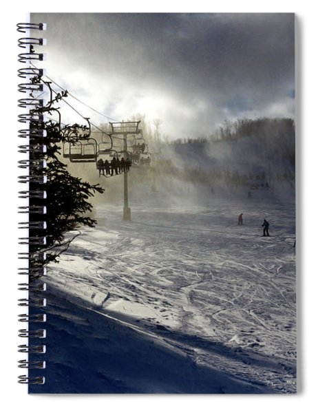 At The Ski Slope Spiral Notebook