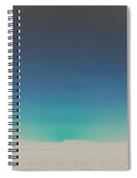 Athens Blue Ombre Sunset Spiral Notebook