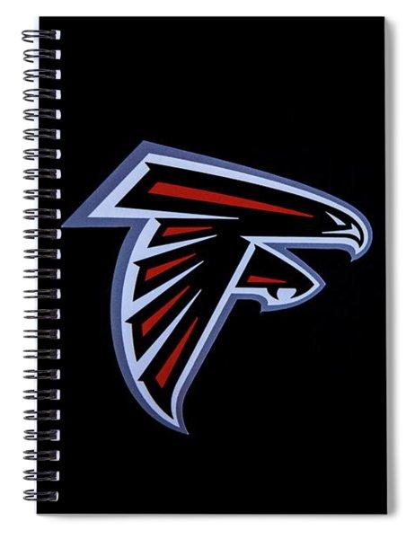Atlanta Falcons Team Logo Art Spiral Notebook