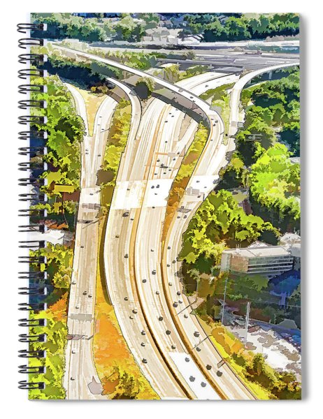 Atlanta Highways Spiral Notebook