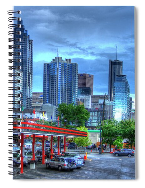 Atlanta Landmark The Varsity Art Spiral Notebook