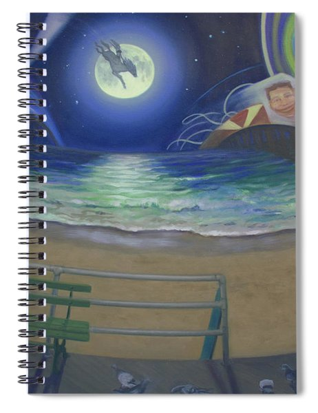 Atlantic City Time Warp Spiral Notebook