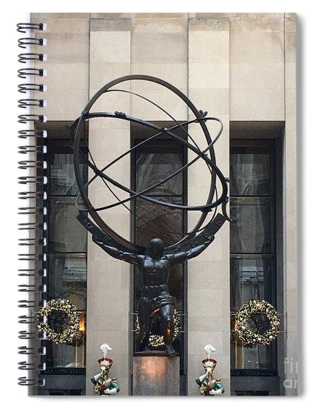 Atlas Statue Spiral Notebook