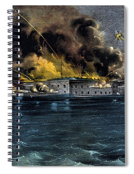 Attack On Fort Sumter Spiral Notebook