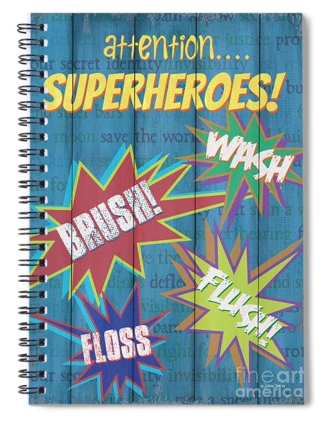 Attention Superheroes Spiral Notebook