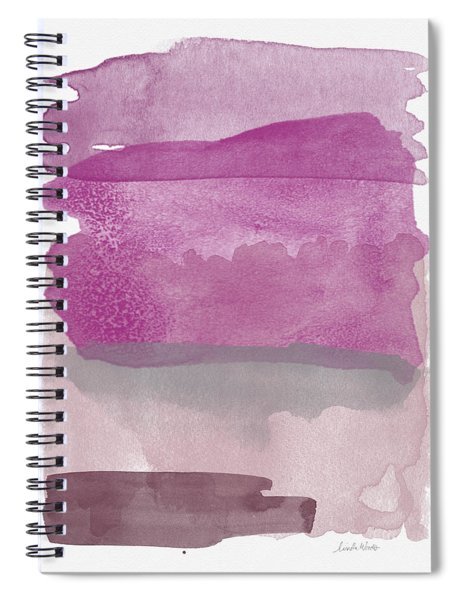 Aubergine Wash- Art By Linda Woods Spiral Notebook