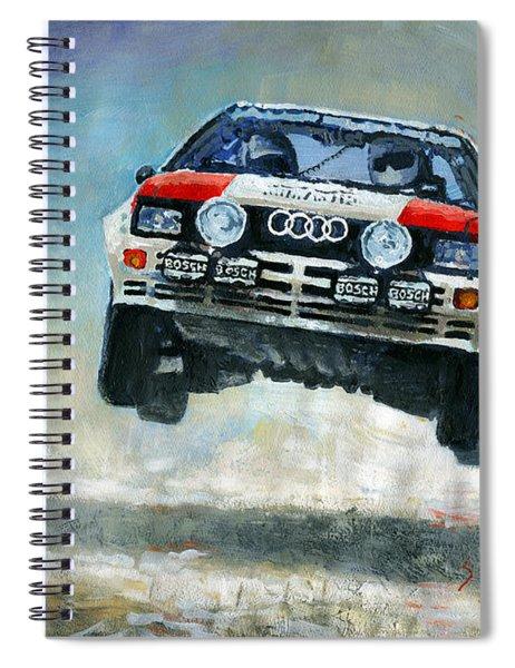 Audi Quattro Gr.4 1982 Spiral Notebook